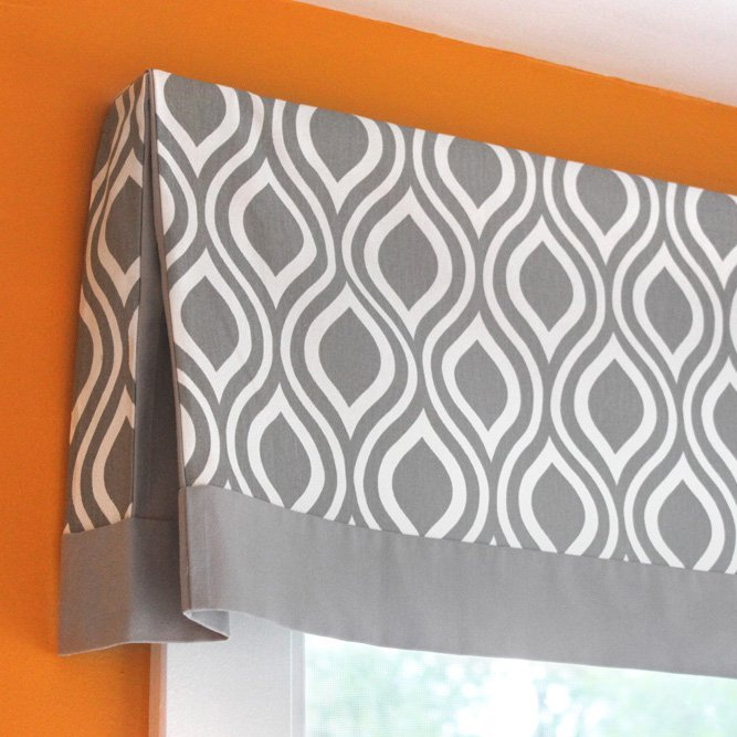 DIY No Sew Valance Tutorial